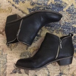 Diba Zipper Faux Leather Booties